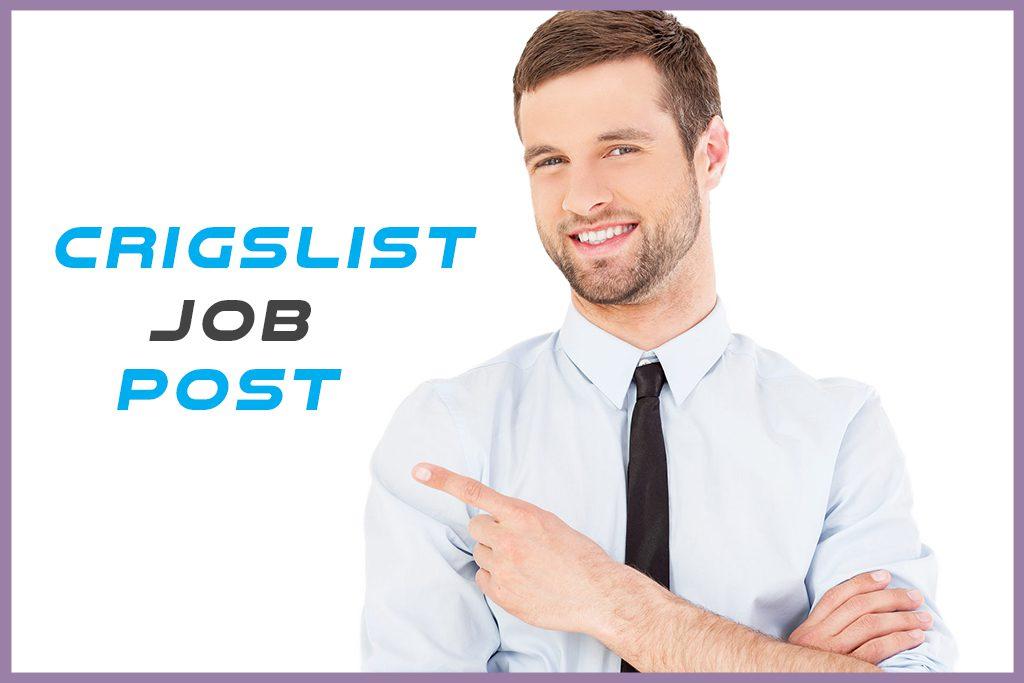 Craigslist Job Post do work !
